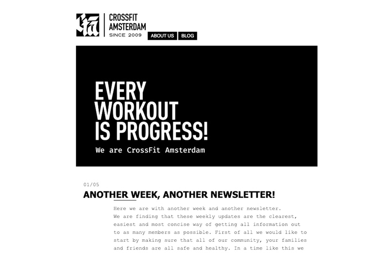 newsletter, crossfit, crossfitamsterdam, covid19, covid-19, corona, community, reach out, stay connected, CrossFit Amsterdam, 020, Mokum, fitness amsterdam, iamsterdam, gym amsterdam, wod amsterdam, crossfit in amsterdam, nieuwsbrief, best community ever